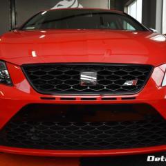 Seat Leon Cupra 300+ woskowanie Premium, odświeżenie wnętrza