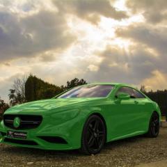 Mercedes S63 AMG Coupe Całościowe zabezpieczenie pojazdu bezbarwnymi foliami ochronnymi